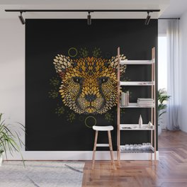 Cheetah Face Wall Mural