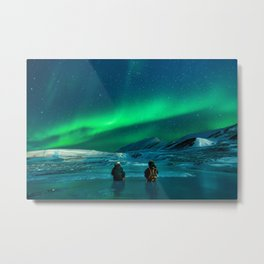 Backpacking with the Aurora Metal Print
