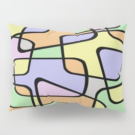 Mid Century Pastel Art Pillow Sham