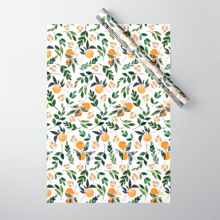 Orange Grove Wrapping Paper