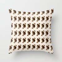 squirrel Throw Pillows featuring Squirrel by Heaven7