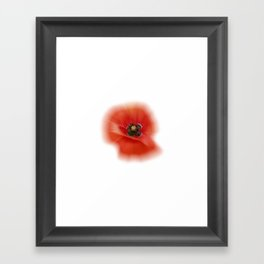 poppy zoom IX Framed Art Print