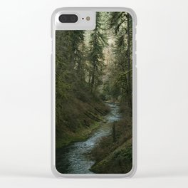 Oregon Forest V Clear iPhone Case