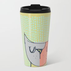 Cubist Cat Study #3 by Friztin Metal Travel Mug