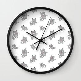 Cute cats pattern Wall Clock