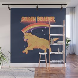 Golden Believer Wall Mural