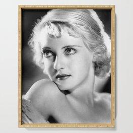 Bette Davis Eyes, Hollywood Starlet black and white photograph / black and white photography Serving Tray