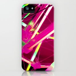Pink Neon Abstract - 2020 - Lasers  iPhone Case