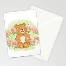 Bees Blossoms And A Bear Stationery Cards