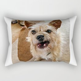 Grumpy Dog Rectangular Pillow