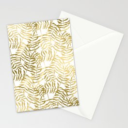 Gold Leaves 1 Stationery Cards