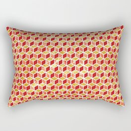 Xmas Geometric Hexagon Pattern Rectangular Pillow