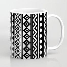 Aztec Essence Pattern II White on Black Coffee Mug