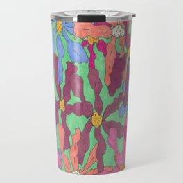 Colorful Retro Floral Print Travel Mug