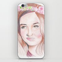 karen hallion iPhone & iPod Skins featuring Karen Gillan by Gillian McMahon