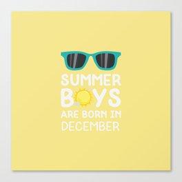 Summer Boys in DECEMBER T-Shirt Dmvif Canvas Print