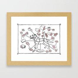 Meat Chart Framed Art Print