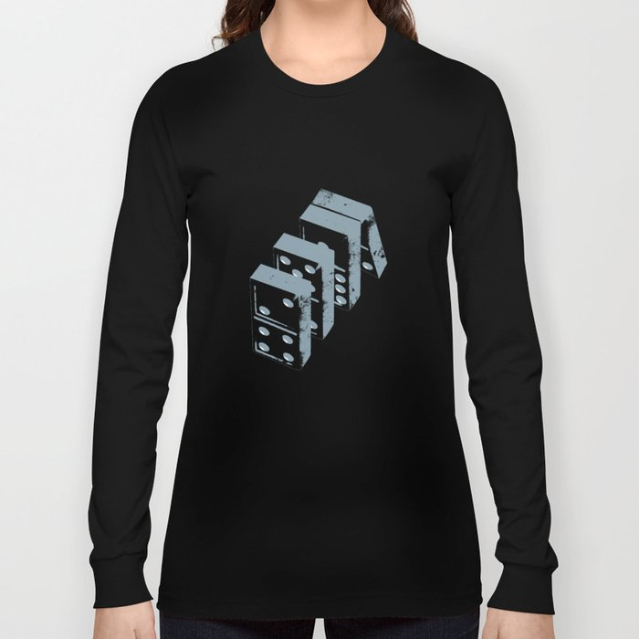 1917d319dd2a Domino theory Long Sleeve T-shirt by stacyinnerst | Society6