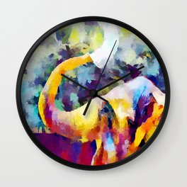 Elephant 4 Wall Clock
