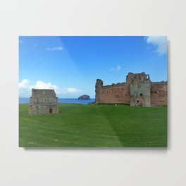 Bass Rock from Tantallon Castle, North Berwick, Scotland Metal Print