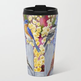 Spring Garden Party Birds and Flowers Travel Mug