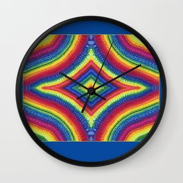 Rainbow Diamond Wall Clock
