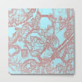 DigitalMap Metal Print