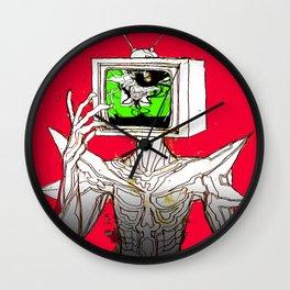 TV HEAD Wall Clock