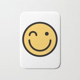Smiley Face   Squinting Big Smiling Happy Smileys Bath Mat