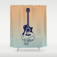 sasquatch Shower Curtains featuring The Intriguing Sounds Of Nature by 38 Sunsets