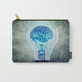 lightbulb brain shining Carry-All Pouch