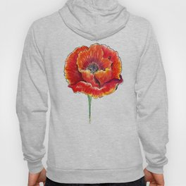 Big red poppies Hoody