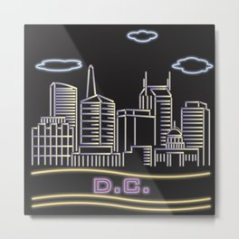 D.C. Neon City Metal Print