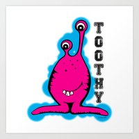 Toothy Alien by Jeronimo Rubio 2016 Art Print