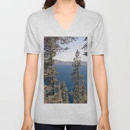 Hidden Lake Love - Nature Photography Unisex V-Neck