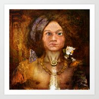pagan Art Prints featuring Pagan Avatar by Bryan Dechter