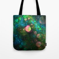 psychadelic Tote Bags featuring Inner Space by Lyle Hatch