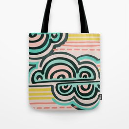 cloudy with a chance of rain Tote Bag