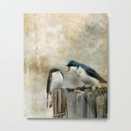 The Bully - Tree Swallows  Metal Print
