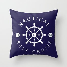 ship rudder Throw Pillow