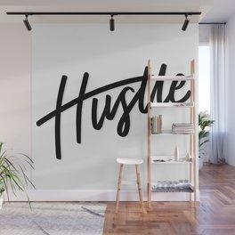 """""""Hustle"""" Motivational Lettering Wall Mural"""