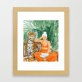 Jungle Vacay #painting #illustration Gerahmter Kunstdruck