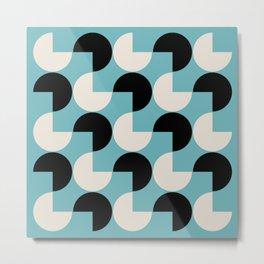 Mid Century Modern Geometric Pattern 816 Metal Print