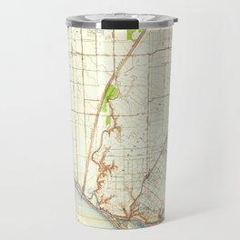 Newport Beach, CA from 1935 Vintage Map - High Quality Travel Mug