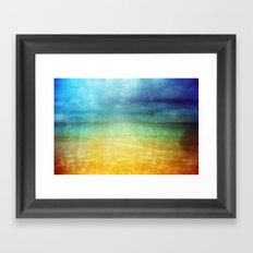 Paint The Sea Red Framed Art Print
