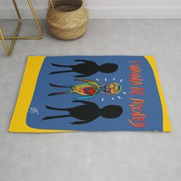 I Wanna be Adored Street Art Graffiti Minimal Rug