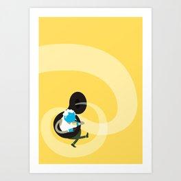 Make it up as you go along - yellow Art Print