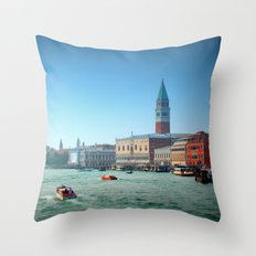 Approaching St Marks Square, Venice, Italy Throw Pillow
