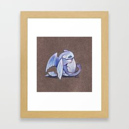 Light fury hatchling Framed Art Print