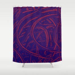Junction - Purple and Red Shower Curtain